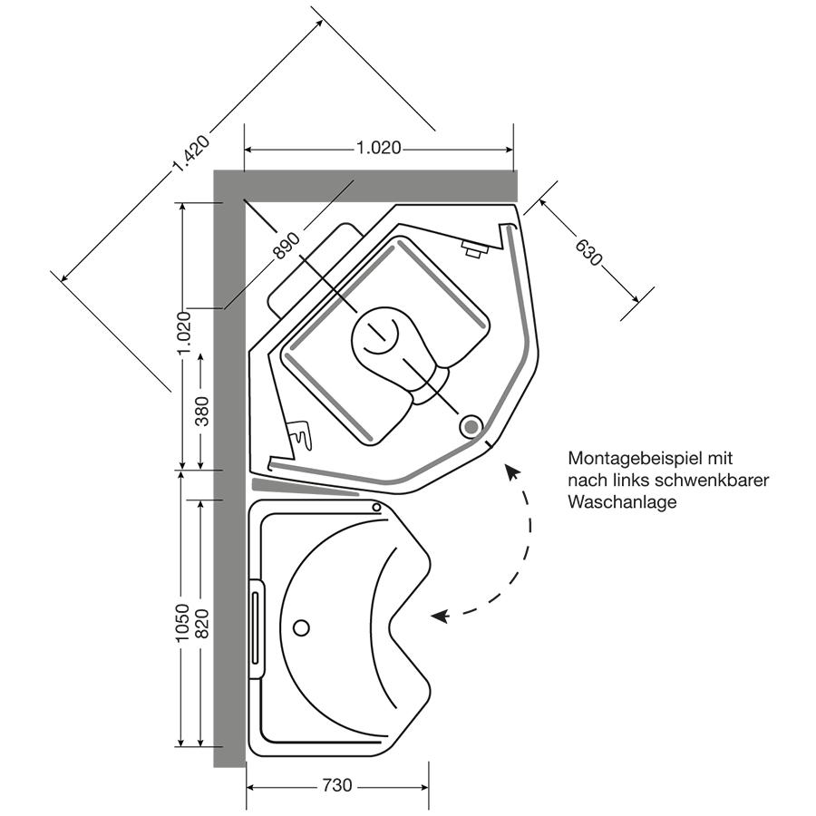 technik und module – senvitas pflegebad